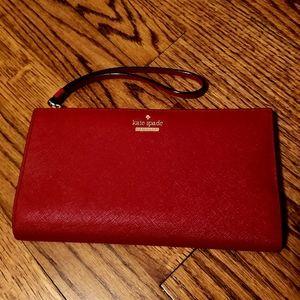 Red Kate Spade Wallet Wristlet